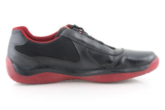 Prada Multicolor Ala Leather Black Red Sneakers Shoes Image 2