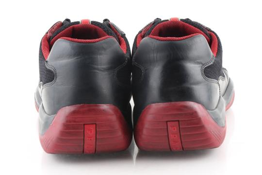 Prada Multicolor Ala Leather Black Red Sneakers Shoes Image 4