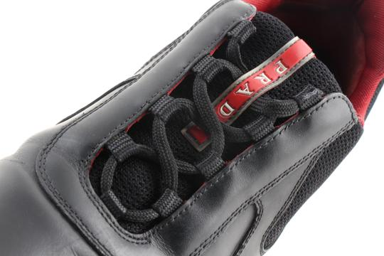 Prada Multicolor Ala Leather Black Red Sneakers Shoes Image 5