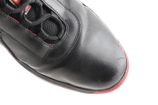 Prada Multicolor Ala Leather Black Red Sneakers Shoes Image 6