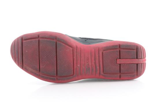 Prada Multicolor Ala Leather Black Red Sneakers Shoes Image 9