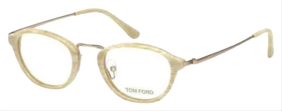3845769b3f29a Tom Ford Striped Ivory Gold Frame   Demo Customisable Lens Tf5321 ...