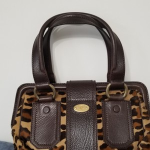 Céline Satchel in Leopard with Brown leather