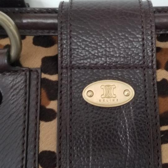 Céline Satchel in Leopard with Brown leather Image 3