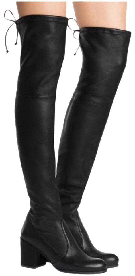 7bc0c497b2b Stuart Weitzman Black Tieland Otk Over The Knee Boots Booties Size ...