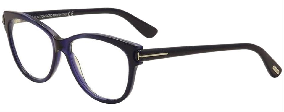 e412f97a1456 Tom Ford Navy Blue Frame   Demo Customisable Lens Tf5287 092 Cat Eye Style Women s  Eyeglasses