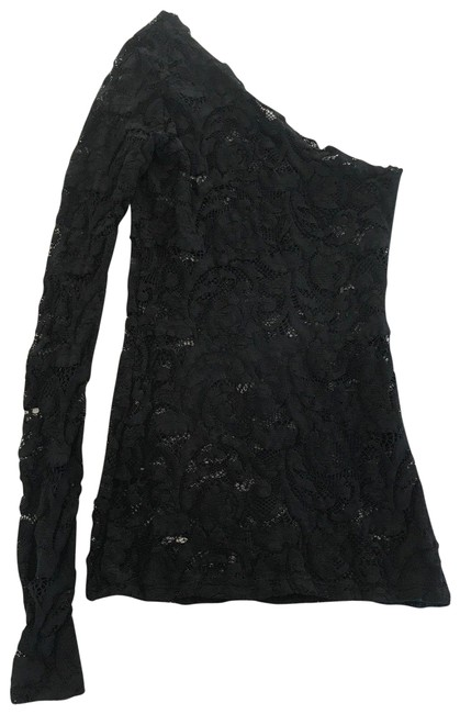 Preload https://img-static.tradesy.com/item/24625425/lace-one-sleeve-blouse-black-top-0-1-650-650.jpg