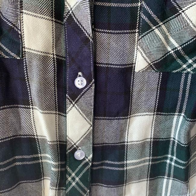 Rails Top Plaid: White, Blue, Green Image 1