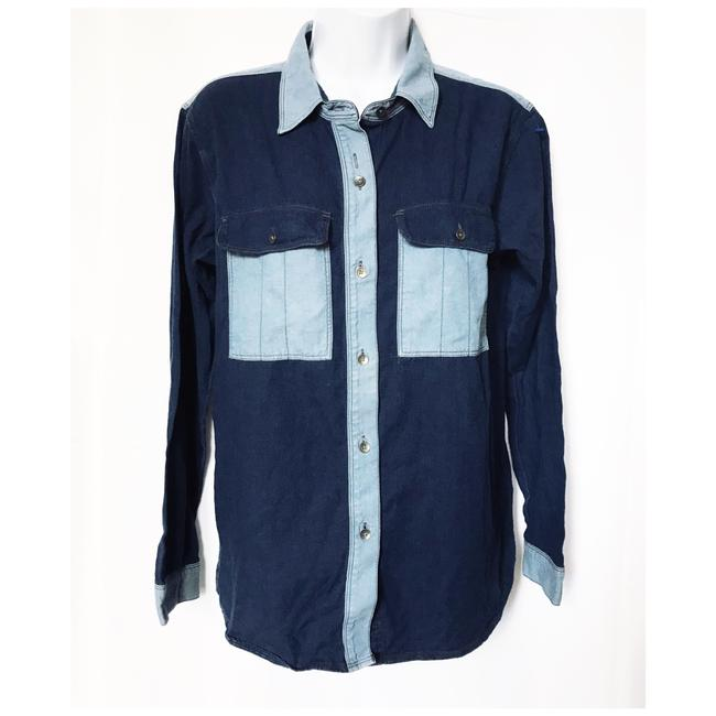 Preload https://img-static.tradesy.com/item/24625471/madewell-blue-denim-shirt-with-contrast-pocketscollars-button-down-top-size-4-s-0-0-650-650.jpg