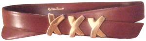 Paloma Picasso Paloma Picasso Brown Leather Belt