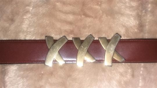 Paloma Picasso Paloma Picasso Brown Leather Belt Image 1