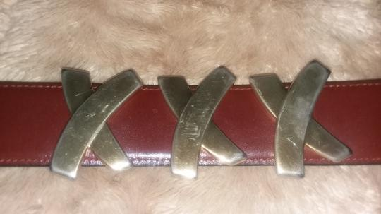 Paloma Picasso Paloma Picasso Brown Leather Belt Image 4