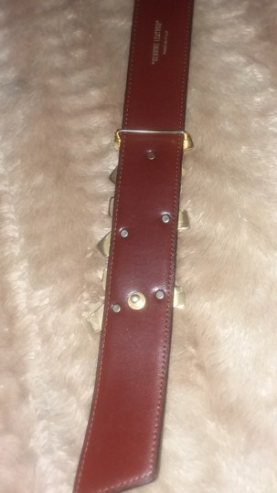 Paloma Picasso Paloma Picasso Brown Leather Belt Image 6