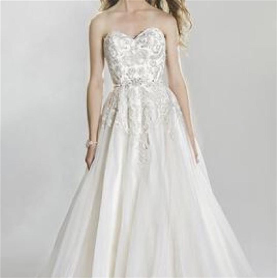 74ccf51d53d Lillian West Ivory Silver Lace   Tulle Beaded and Ball Gown with ...