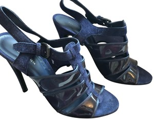 Bottega Veneta blue and black Sandals