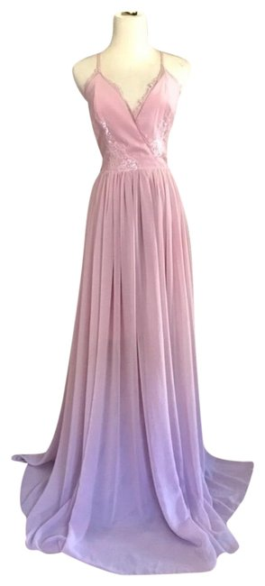 Preload https://img-static.tradesy.com/item/24625664/dress-the-population-pink-chloe-lace-and-chiffon-gown-long-formal-dress-size-12-l-0-1-650-650.jpg