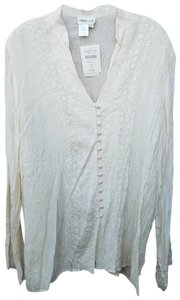 Coldwater Creek Button Down Shirt Ivory