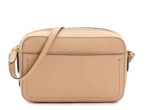 Cole Haan Leather Camera Pink Beige Cross Body Bag