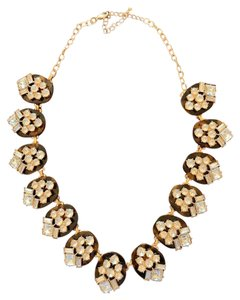 Unknown Tortoise Shell and gem hooked necklace
