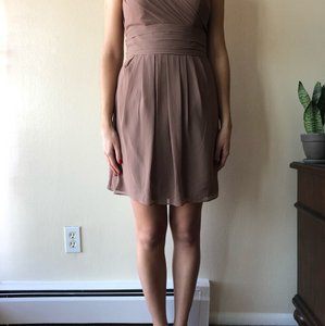 Bill Levkoff Latte Feminine Bridesmaid/Mob Dress Size 8 (M)