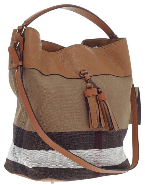Item - Medium Ashby Saddle and Leather Brown Canvas Hobo Bag