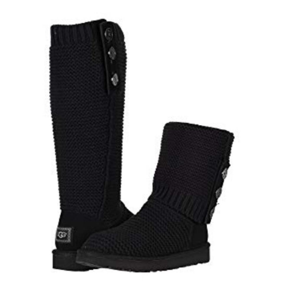 a4dae664719 UGG Australia Black Nwot Purl Cardy Knit Boots/Booties Size US 6 Regular  (M, B) 33% off retail