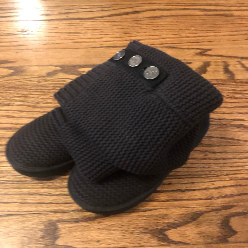 e29b39a4ed0 UGG Australia Black Nwot Purl Cardy Knit Boots Booties Size US 6 ...