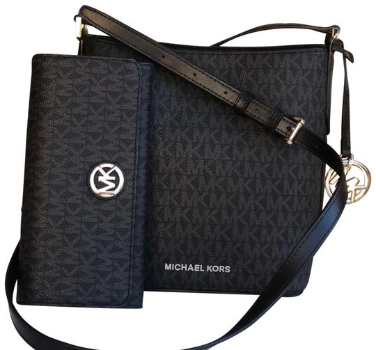 e17bbbcbf54c Michael Kors Bucket Kimberly Small with Matching Wallet Set Black ...