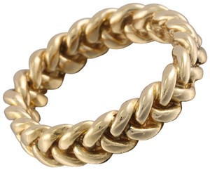 Tiffany & Co. Tiffany & Co 18k Yellow Gold 4.3mm Twin Braided Band Ring 6.2 grams
