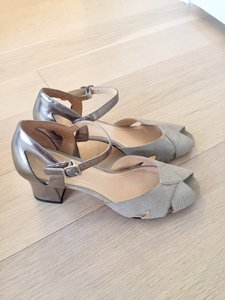 Cole Haan silver and grey Sandals