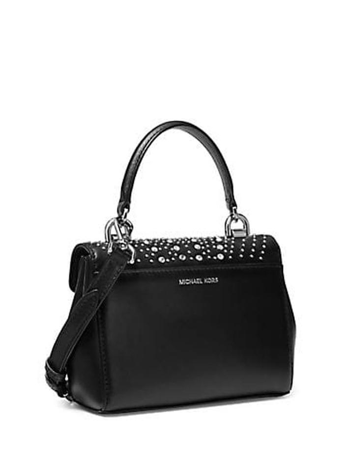 8b0c28b120d73 Michael Kors Ava Extra Small Mini Messenger Black Leather Cross Body Bag -  Tradesy