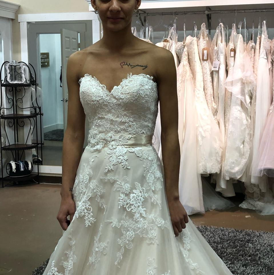 Lillian West Ivory/Creme Lace Embroidered And Tulle Ball