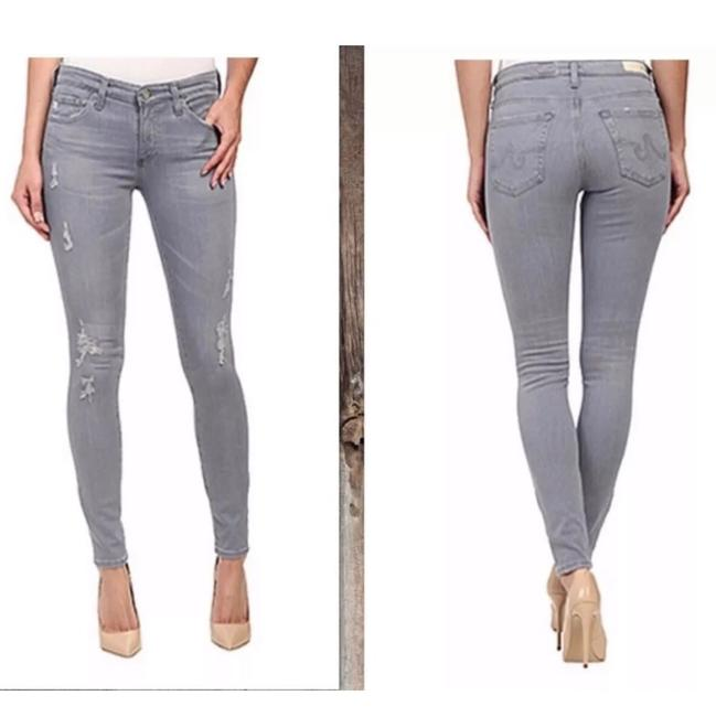 Item - Gray Stretchy Distressed Ankle Jeggings Size 27 (4, S)