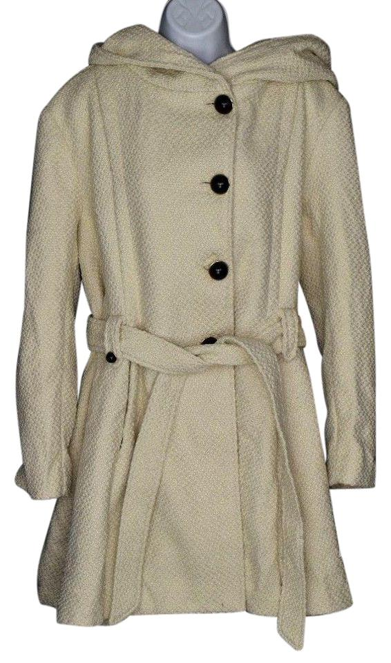 6026eeb50ba Steve Madden Ivory Single Breasted Wool Coat Size 20 (Plus 1x) - Tradesy