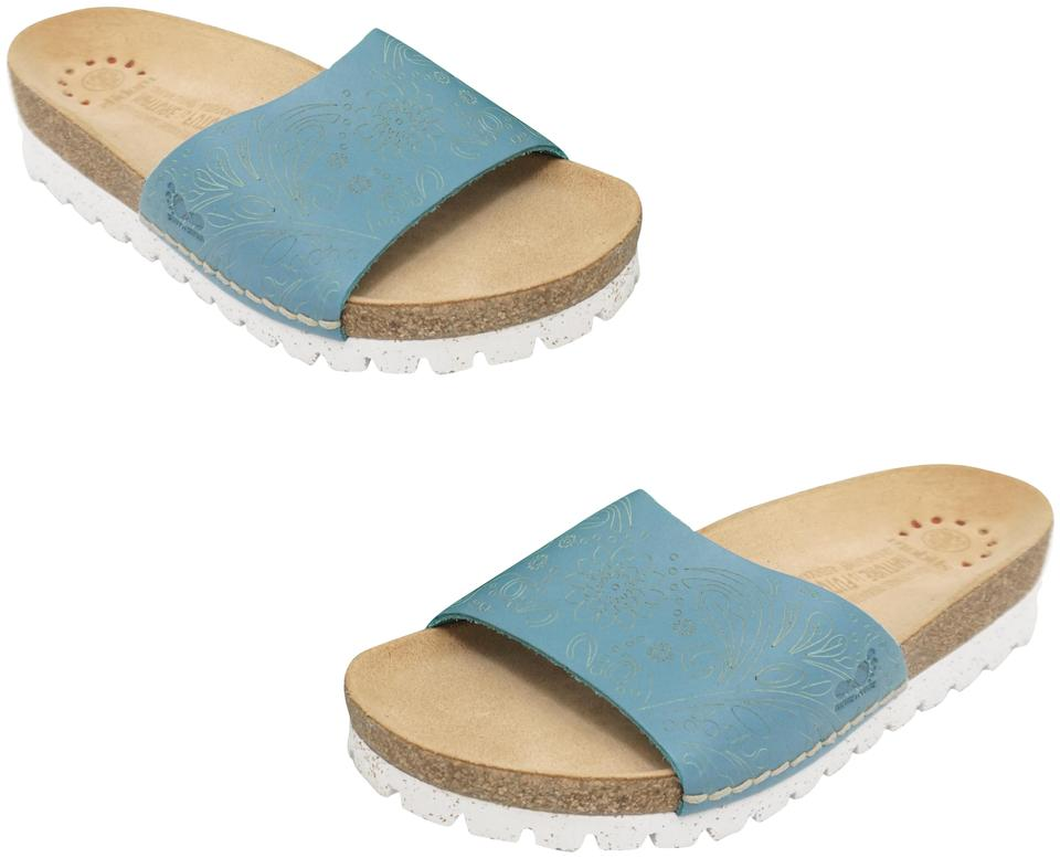 cfd8aeb0c7e Mephisto Turquoise Tricia Women s Sandals Slip On Comfort Flats Size ...