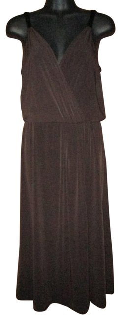 Item - Brown Mid-length Cocktail Dress Size 10 (M)