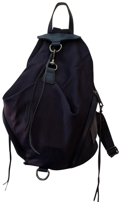 Item - Navy Blue Nylon Backpack