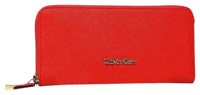 Item - Coral Saffiano Leather Zip Wallet
