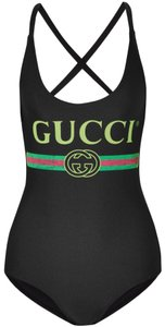 Gucci logo printed swimsuit body suit