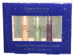The Flower Color Flower Color in the Lines Eye Chubby Beauty Crayon Gift Set of 3 different colors. Self-sharpening *