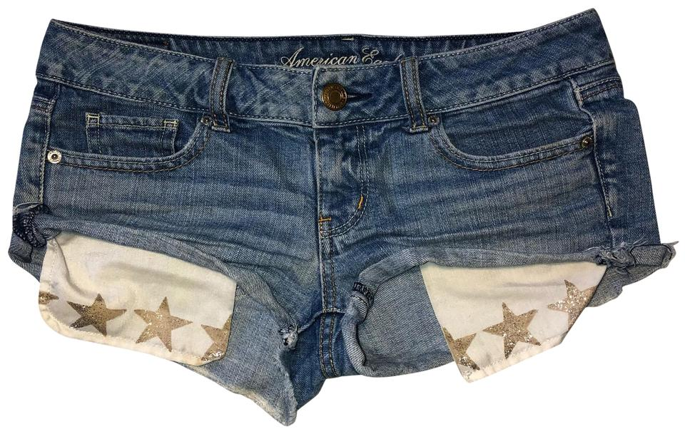 48cf3e7f26 American Eagle Outfitters Distressed Cut Off Star Pocket Denim ...