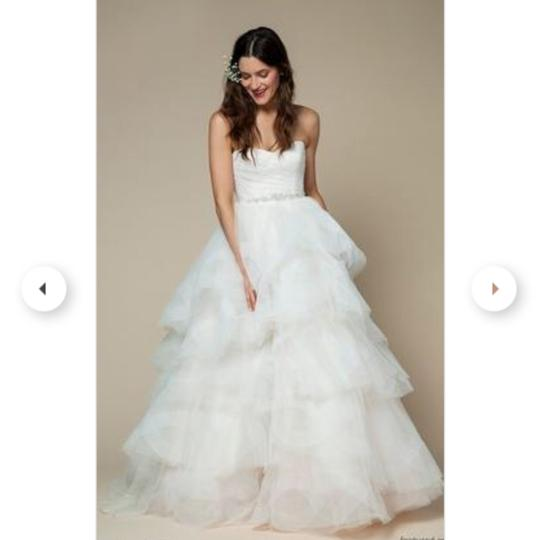Bliss By Monique Lhuillier White Strapless Sweetheart