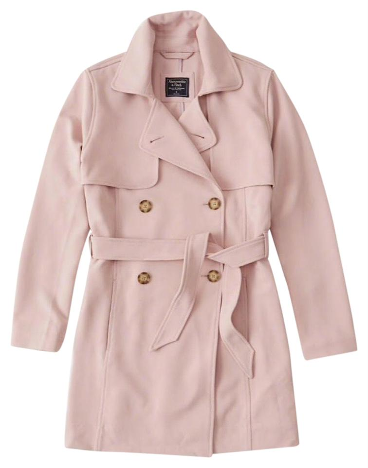 suitable for men/women top-rated quality elegant shape Abercrombie & Fitch Light Pink Soft Drapey Rose Ballerine Coat Size 8 (M)