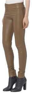 Vince Luxirous Leather Olive Tree Leggings