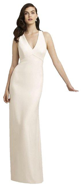 Item - Ivory Collection 2938 White V Neck Crepe Gown Long Formal Dress Size 8 (M)