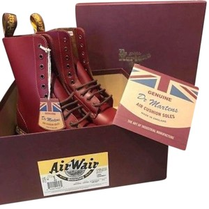 Dr. Martens Limited Edition Leather Made In England Oxblood Boots