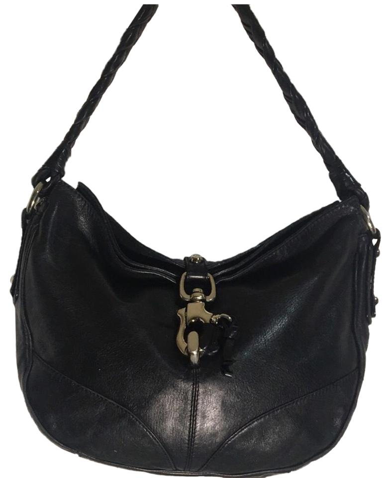 a9f105599476 Francesco Biasia Handbag Black Leather Shoulder Bag - Tradesy
