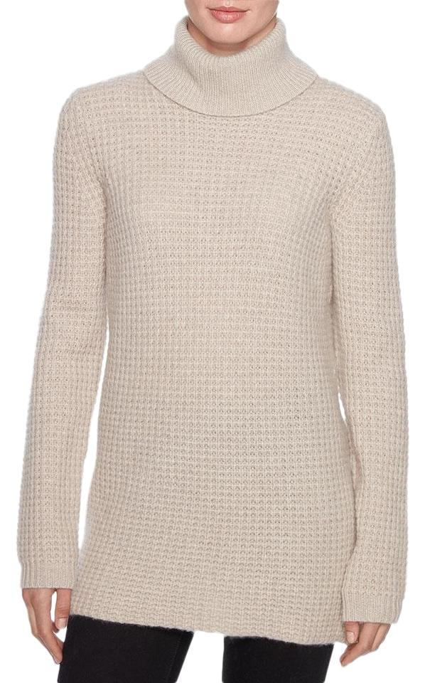 aa3202d07fed5 Magaschoni Cashmere Turtleneck Taupe Sweater - Tradesy
