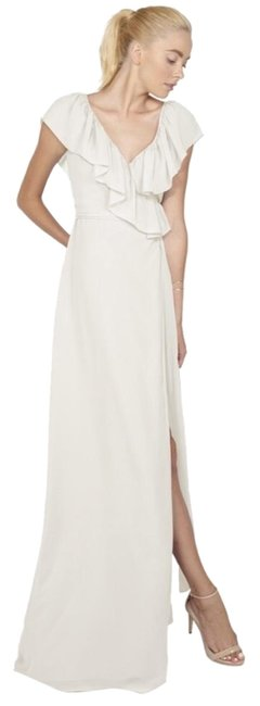 Item - White Ceremony By Lolo Gown Long Formal Dress Size 4 (S)