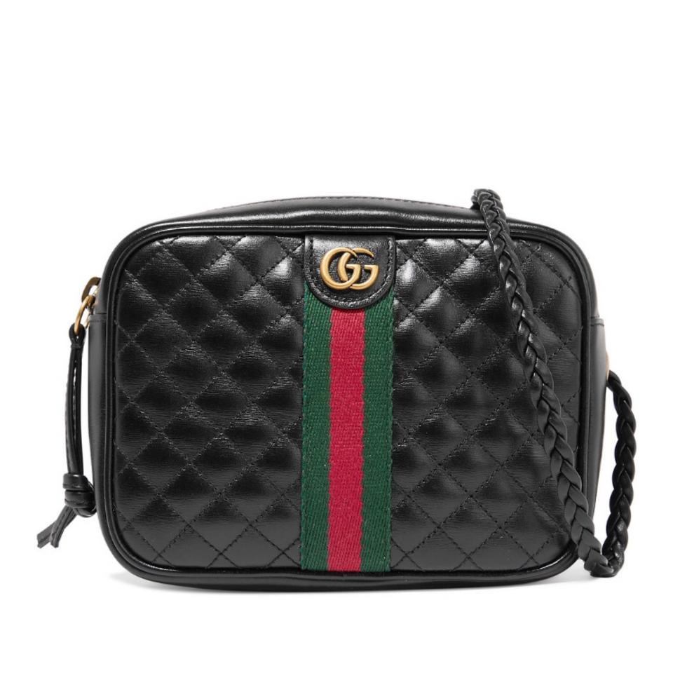 Gucci Camera Mini Quilted Leather Black Cross Body Bag